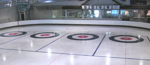 overview shot of painted rink