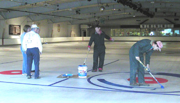 Painting the ice
