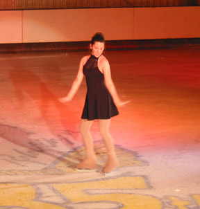 Katie Owens on the ice pose